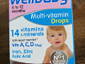 Wellbaby Multi-vitamin drops 4-12 kuud