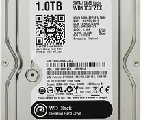 WD Desktop Black 1TB HDD 7200rpm 6Gb/s serial SATA 64MB