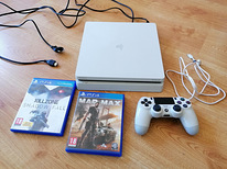 PS4 Slim + pult + juhtmed + Mad Max, GTA5 ja Killzone