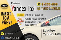 Yandex.Taxi partner pakkub too