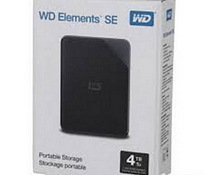 WD Elements Portable SE. 4TB, USB3.0, Black, uus