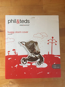 Phil&Teds Mod storm cover vihmakile