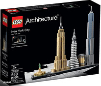 Absoluutselt uus Lego Architecture 21028 New Yourk 598 osa
