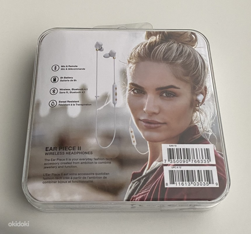 Happy Plugs Ear Piece II Wireless, White (foto #2)
